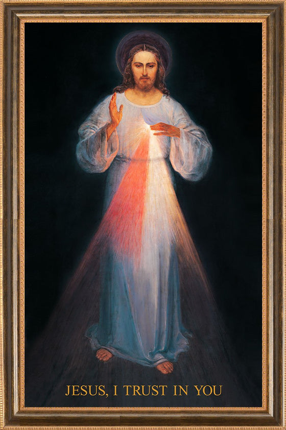 - Vilnius Divine Mercy 16x24 on Canvas - ON SALE - Frame 10491