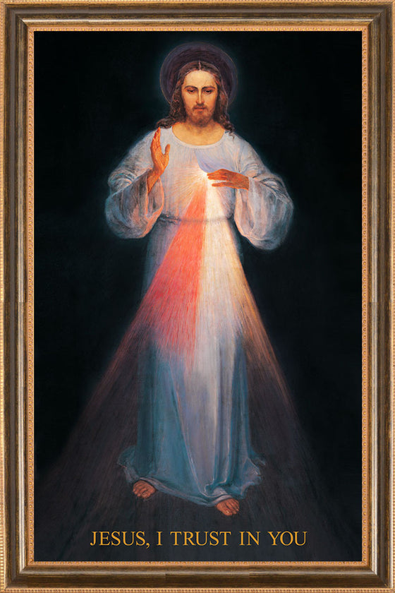 Vilnius Divine Mercy on Canvas - Frame 10491