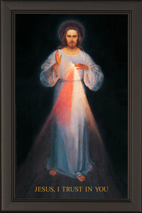 - Vilnius Divine Mercy 20x36 on Canvas On Sale - Frame 6711