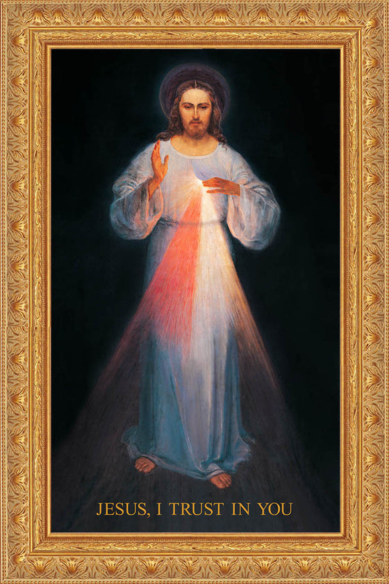 - Vilnius Divine Mercy 20x36 on Canvas - ON SALE - Frame 8483