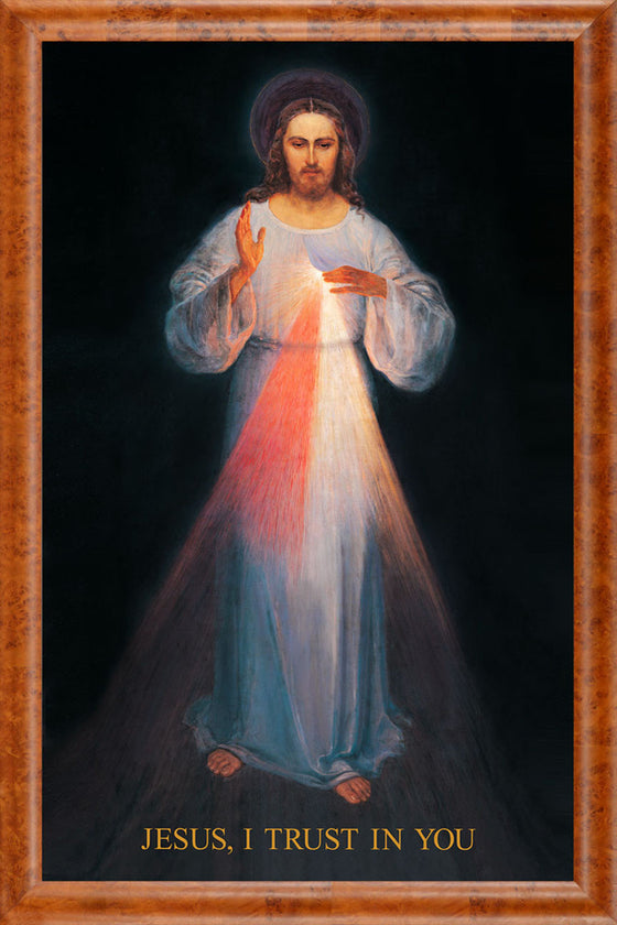 Overstock - Vilnius Divine Mercy 18x22 on Canvas - Frame 8714