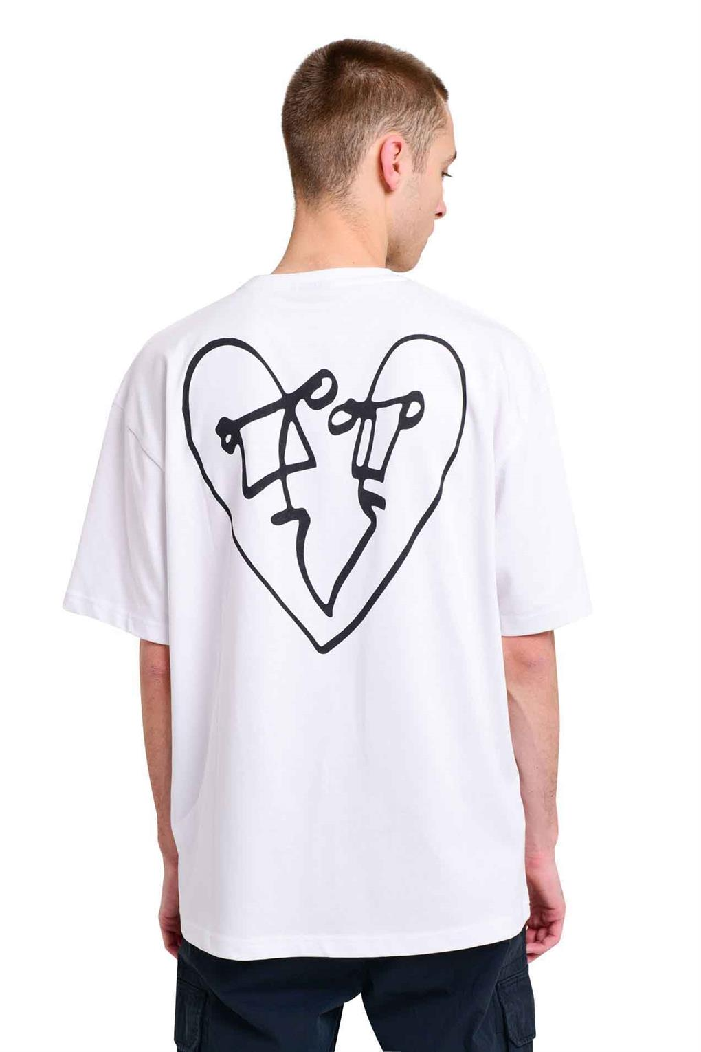 LUV BACK PRINT OVERSIZED TEE | WHITE