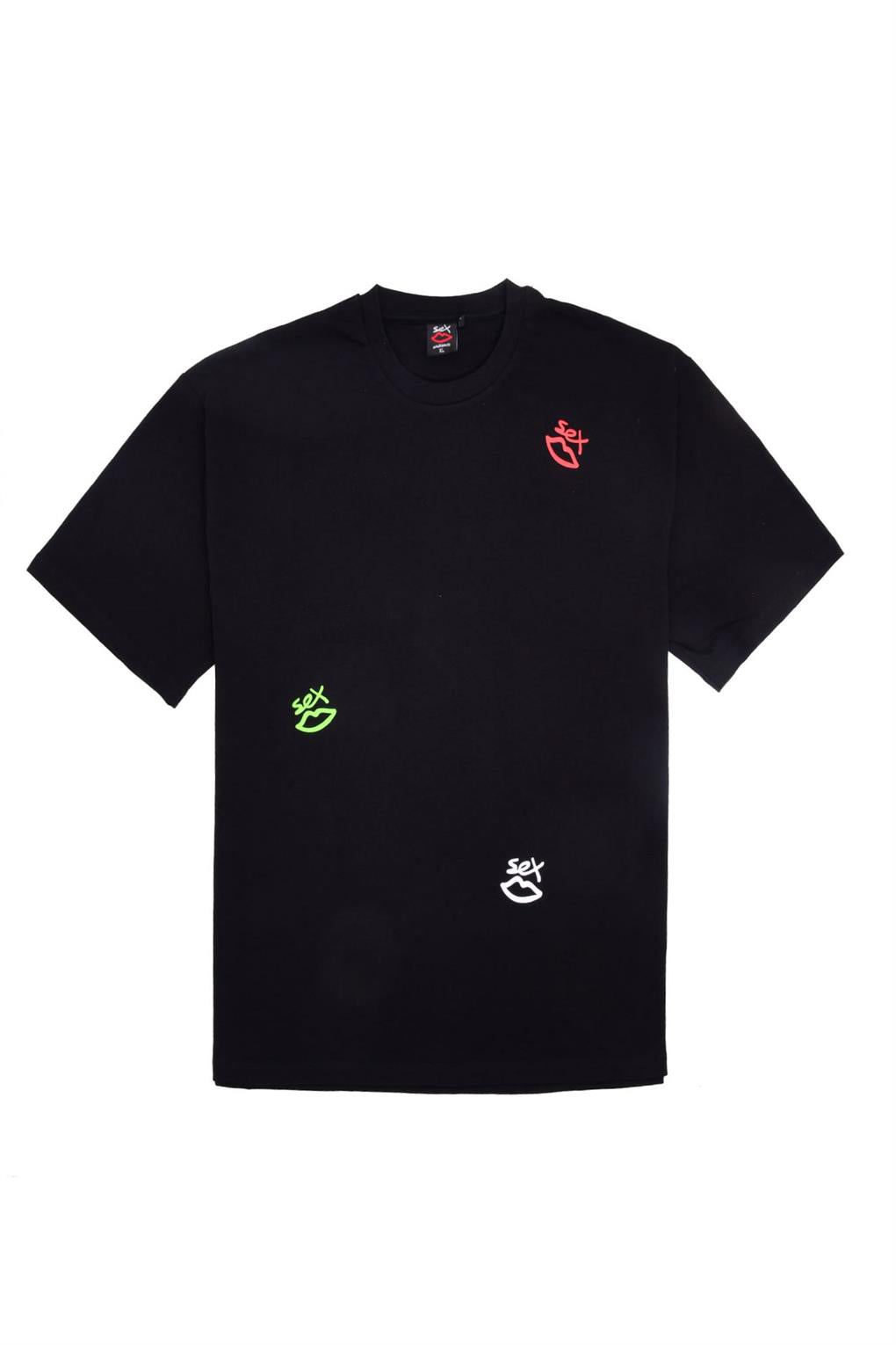 SCATTERED LOGO TEE  | BLACK