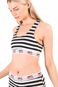 STRIPEY BRALET  | BLACK WHITE