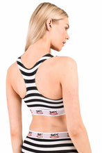 Load image into Gallery viewer, STRIPEY BRALET  | BLACK WHITE