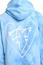 Load image into Gallery viewer, LUV TIE DYE BACK PRINT OVERSIZED HOOD  | BLUE