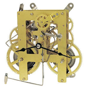 India Clock Movement with front verge pendulum