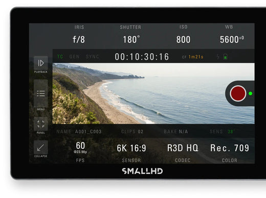 SmallHD Indie 7 monitoring example