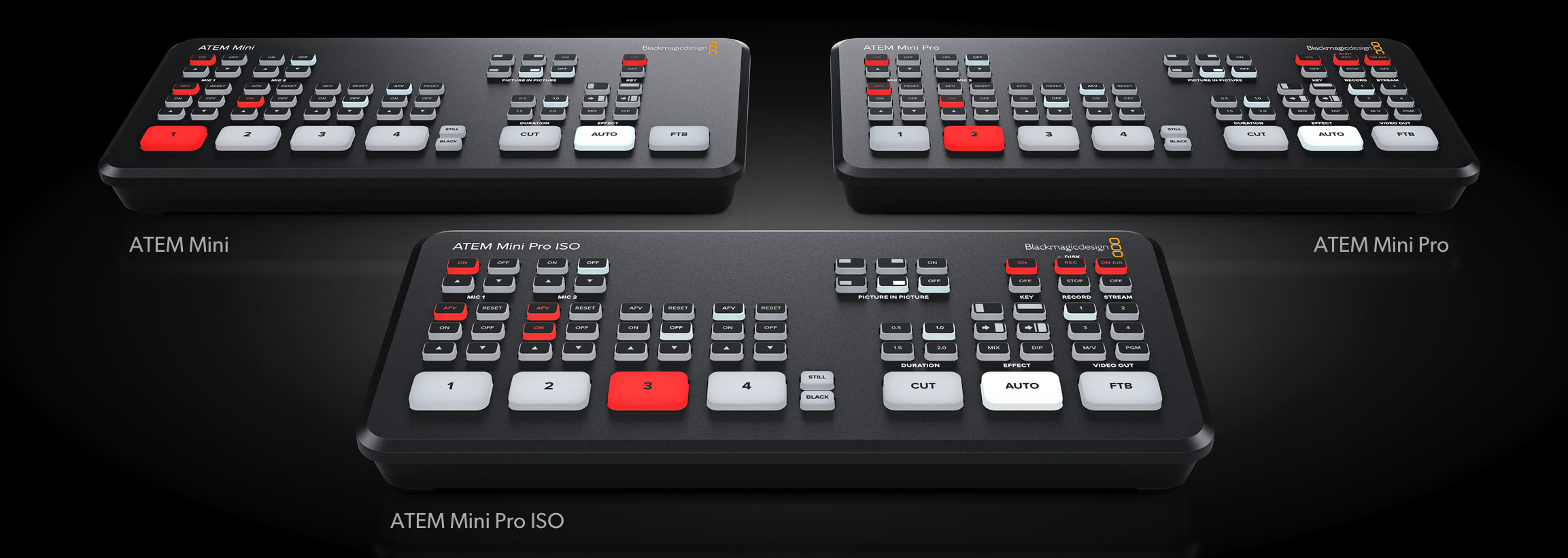 Blackmagic Design ATEM Mini models