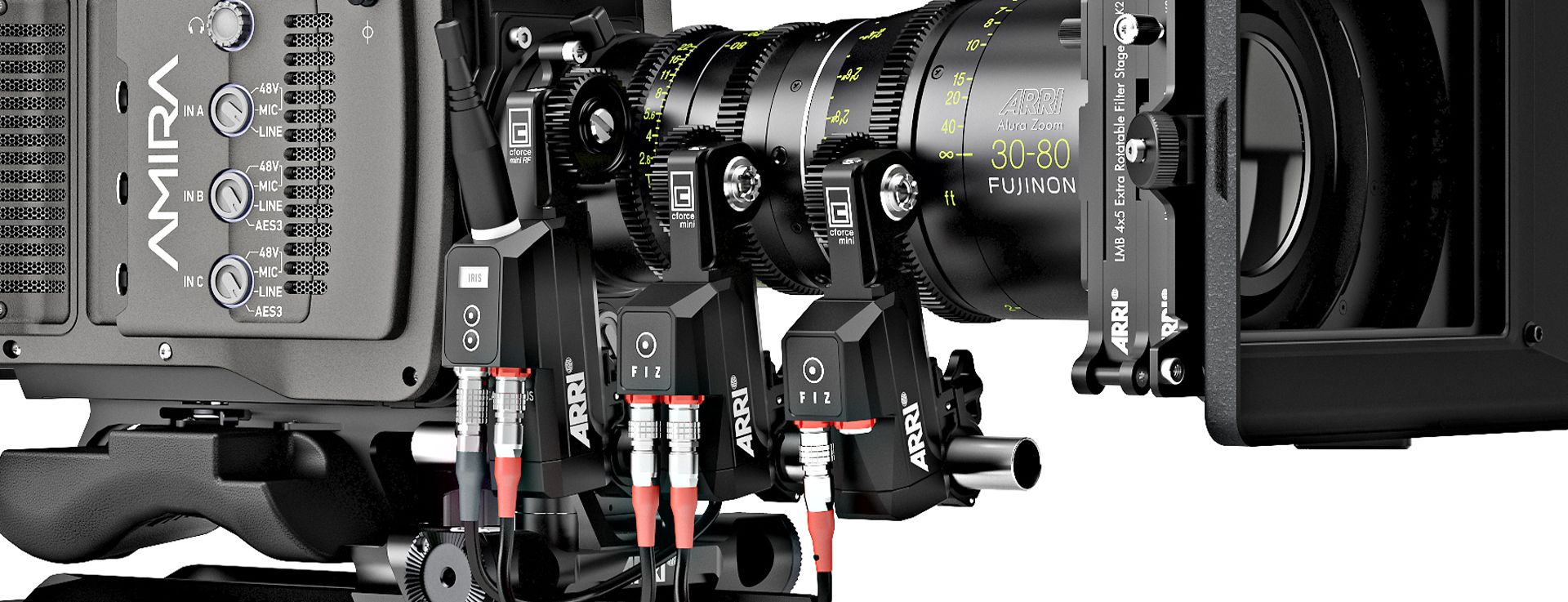 ARRI cforce Mini instalat pe camera
