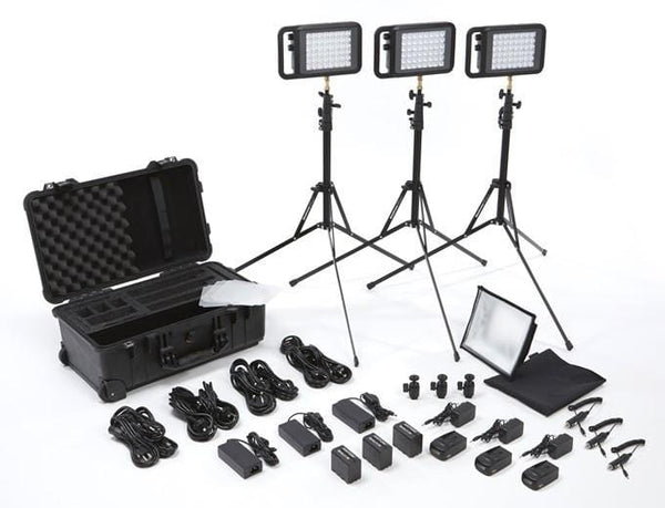 Litepanels Lykos Bi-Color Flight Kit cu baterii