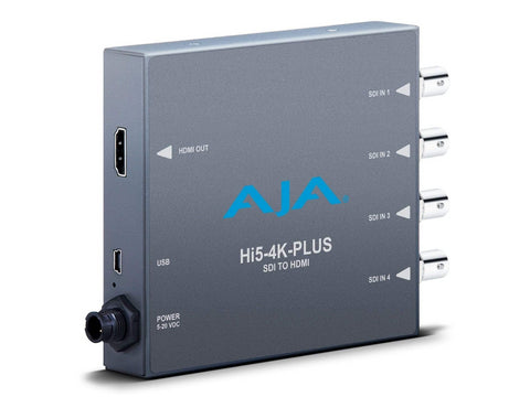 Mini convertor audio/video 3G-SDI la HDMI 2.0 AJA Hi5-4K-Plus