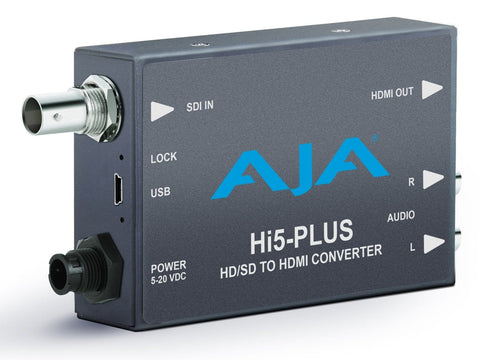 Mini convertor audio/video 3G-SDI la HDMI AJA Hi5-Plus