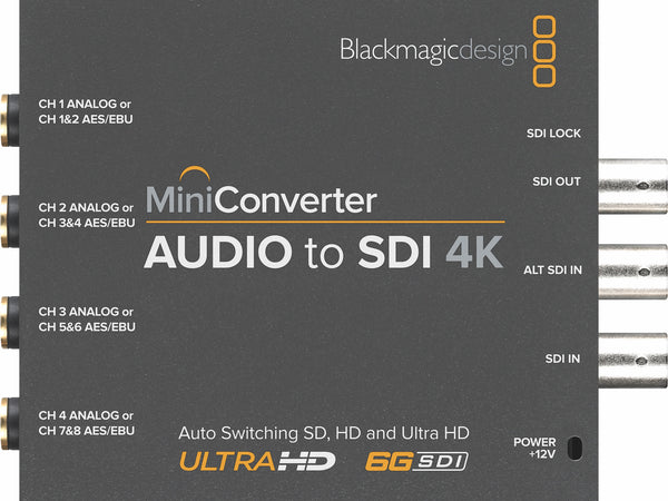 Blackmagic mini convertor audio la SDI 4K
