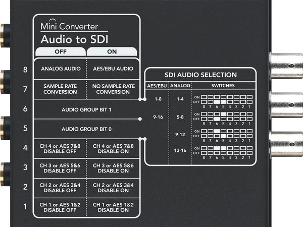 Blackmagic mini convertor audio la SDI
