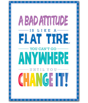 A Bad Attitude Is... Inspire U Poster