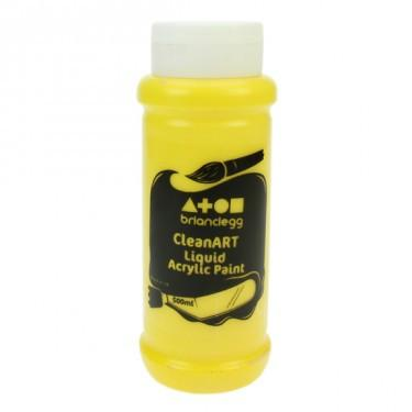Clean Art Acrylic Yellow 500ml