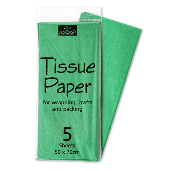 Tissue Paper Pack 5 Sheets - Emerald