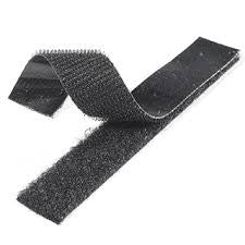 Velcro Strips - 5 Metres - Hard & Soft Set - Black
