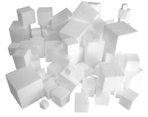Polystyrene Cubes Assorted Sizes 10-40mm - Set of 100