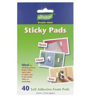 Ultratape Double sided Sticky Pads - Pack of 40