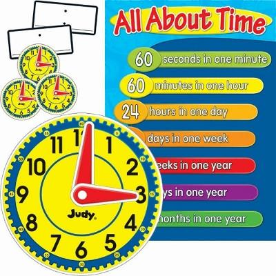 Judy Clock Bulletin Board Set of 113 Pieces