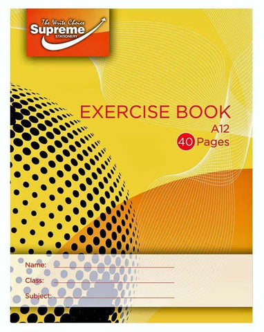 Supreme A12 Exercise Copy Book 40 Pages