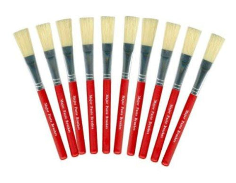 "1/2"" Red Paste & Glue Brushes Pack of 10"