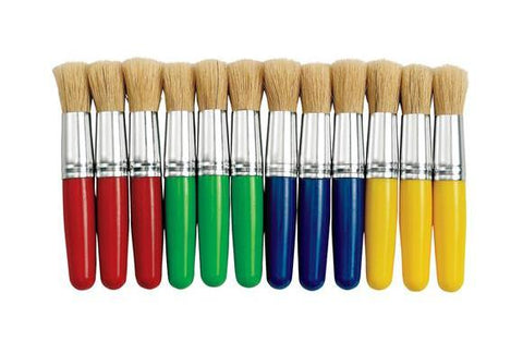 Stubby Chubby Paint Brushes - Set of 12