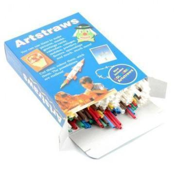 Artstraws Starter Pack Assorted Colours & White - Short 4mm & 6mm (Diameter)