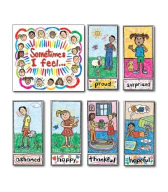 Kid Drawn Emotions Bulletin Board Set