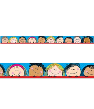 Smiling Stick Kids Border