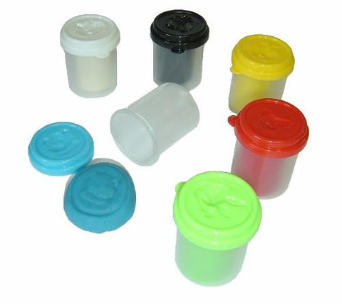 Modelling Dough Assorted Colours 50gm Pots - Pack of 6