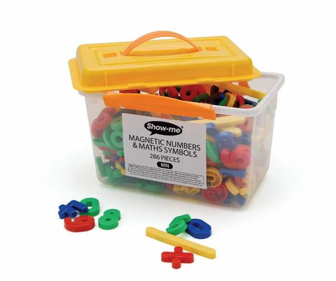Show-Me Magnetic Numbers & Maths Symbols 35mm Tub 286 Pieces