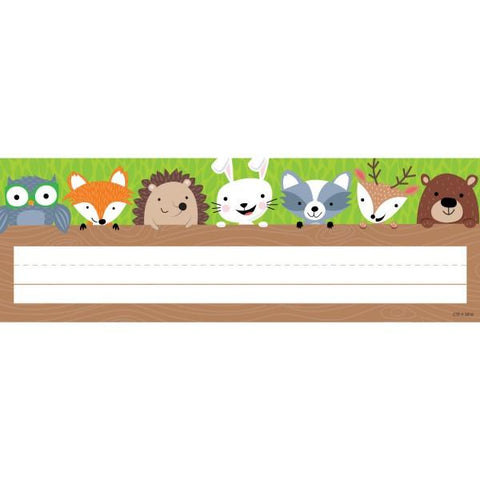 Desk Top Name Plates - Woodland Friends Pack of 36