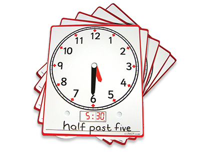 Write 'N' Wipe Clock Wheel Pack of 5