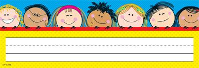 Desk Top Name Plates - Smiling Stick Kids Pack of 36