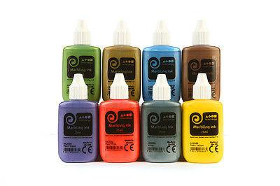 Marbling Ink - Metallic Assorted Colours - Set of 8
