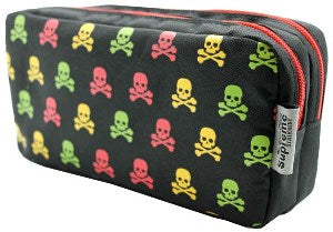 Skeleton Pencil Case - Double Pocket & Zips