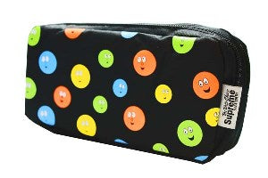 Smiles Pencil Case - Double Pocket & Zips