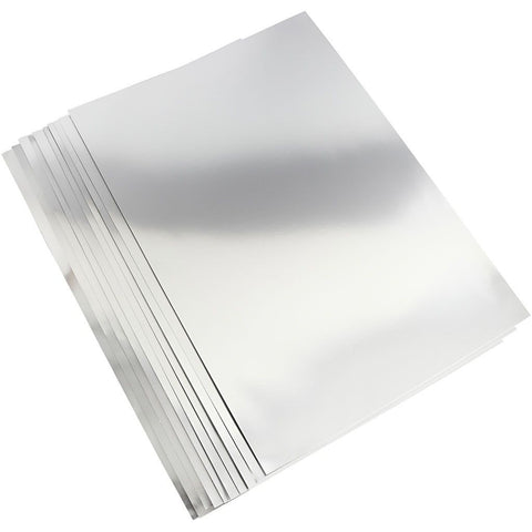 A2 Metallic Foil Silver Card 420 x 600 mm 280g - 10 sheets
