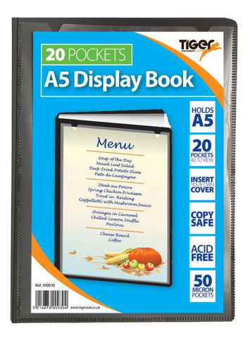Presentation Display Book - A5 20 Pocket (40 Pages) - Tiger