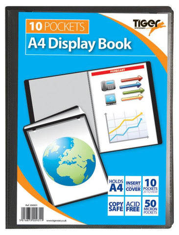 Presentation Display Book - A4 10 Pocket (20 Pages) - Tiger