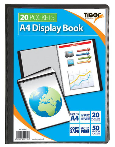 Presentation Display Book - A4 20 Pocket (40 Pages) - Tiger