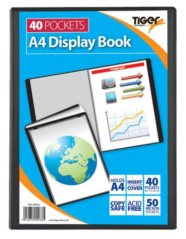 Presentation Display Book - A4 40 Pocket (80 Pages) - Tiger