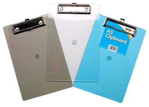 A5 Plastic Clipboard - Tiger