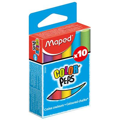 Maped Color Peps Assorted Colour Chalk - Pack of 10