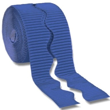 Bordette Corrugated Display Roll - Royal Blue (2 x 7.5m) 15 Metres