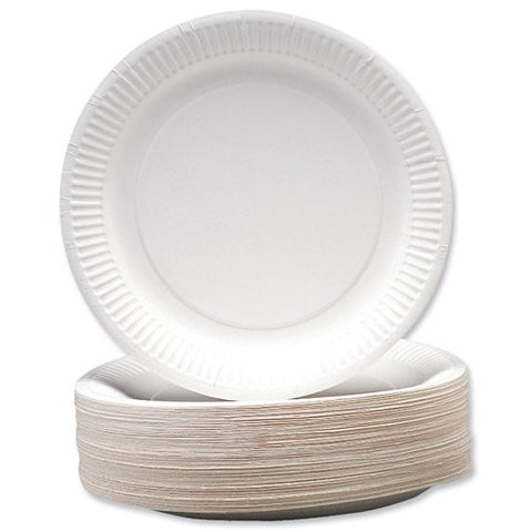Paper Plates 7 Inch White (100 Pack) 0511040