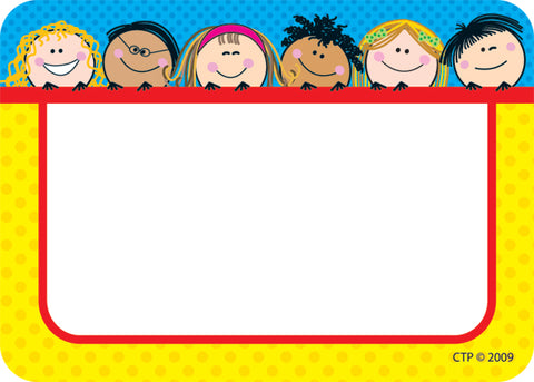 Smiling Stick Kids Labels - Pack of 36